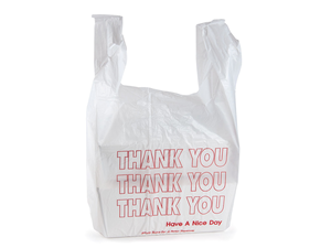 Plastic Thank You Bags