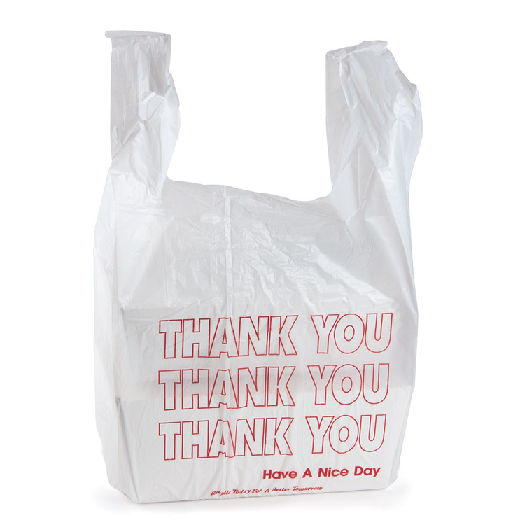 B020020 Grocery Bag Hdpe White